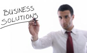 business man draw business solutions