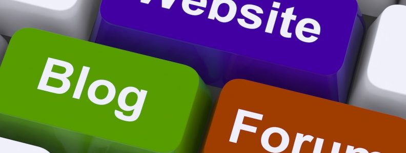 Website Blog And Forum Keys Show Internet Or Www